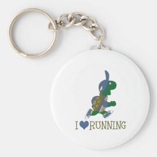Porte-clés J'aime courir la tortue
