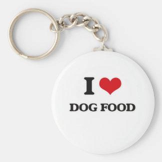 Porte-clés J'aime des aliments pour chiens
