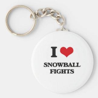 Porte-clés J'aime des combats de Snowball