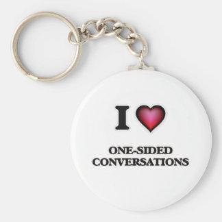 Porte-clés J'aime des conversations unilatérales