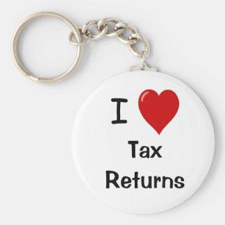 Porte-clés J'aime des déclarations d'impôt - porte - clé de