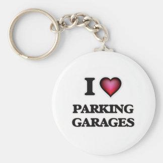Porte-clés J'aime des garages