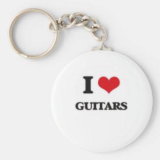 Porte-clés J'aime des guitares