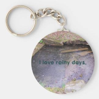 Porte-clés J'aime des jours pluvieux