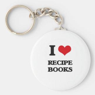 Porte-clés J'aime des livres de recette
