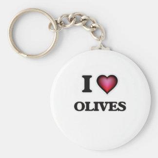 Porte-clés J'aime des olives