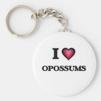 Porte-clés J'aime des opossums
