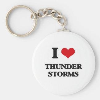 Porte-clés J'aime des orages
