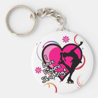 Porte-clés J'aime des porte - clés de patinage artistique