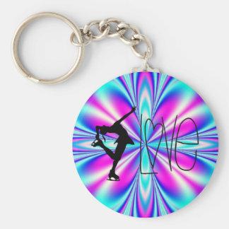 Porte-clés J'aime des porte - clés de patinage artistique -