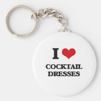 Porte-clés J'aime des robes de cocktail