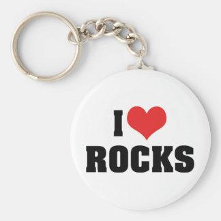 Porte-clés J'aime des roches - amant de géologue de géologie