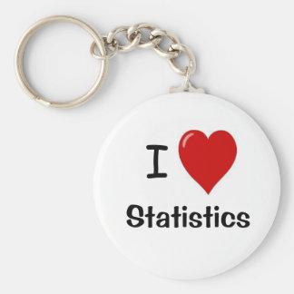 Porte-clés J'aime des statistiques - statistiques de coeur