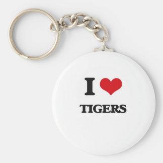 Porte-clés J'aime des tigres