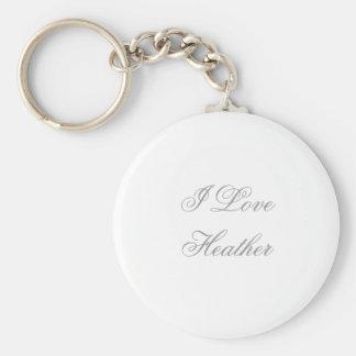 Porte-clés J'aime Heather