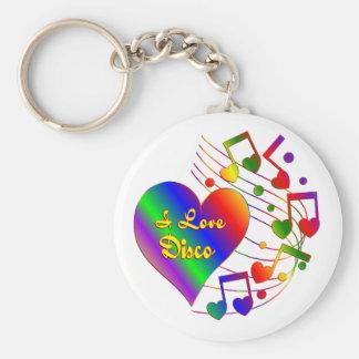 Porte-clés J'aime la disco