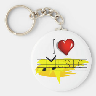 Porte-clés J'aime la musique