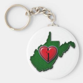 Porte-clés J'aime la Virginie Occidentale aussi