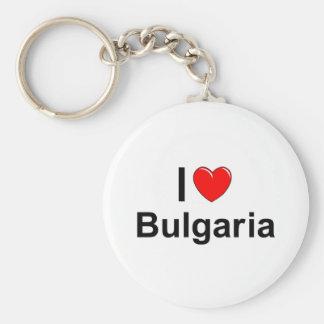 Porte-clés J'aime le coeur Bulgarie