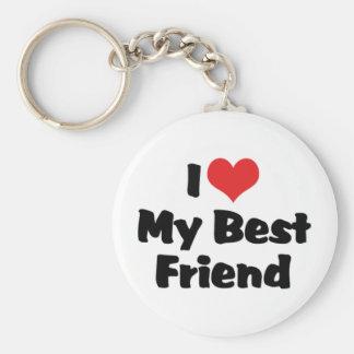 Porte-clés J'aime le coeur mon meilleur ami - BFF