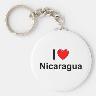 Porte-clés J'aime le coeur Nicaragua