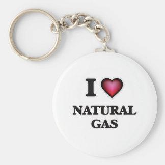 Porte-clés J'aime le gaz naturel