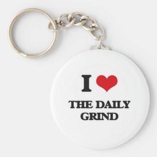Porte-clés J'aime le morcellement quotidien