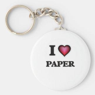 Porte-clés J'aime le papier