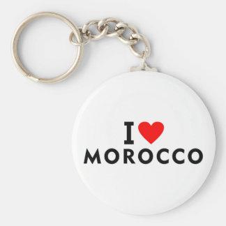 Porte-clés J'aime le pays du Maroc comme le tourisme de