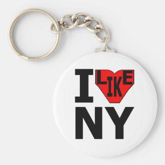 Porte-clés J'aime le porte - clé 3 de NY