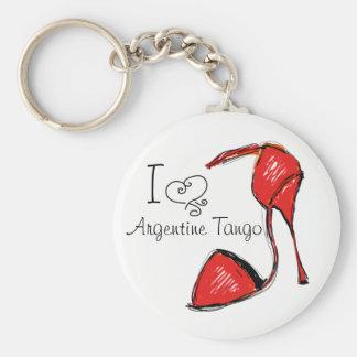 Porte-clés J'aime le porte - clé argentin de tango