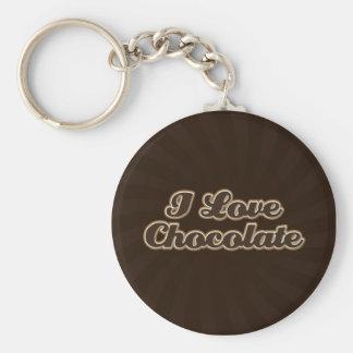 Porte-clés J'aime le porte - clé de chocolat