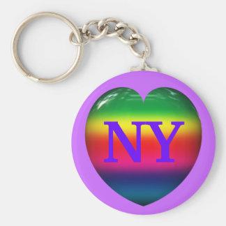 Porte-clés J'aime le porte - clé de coeur d'arc-en-ciel de