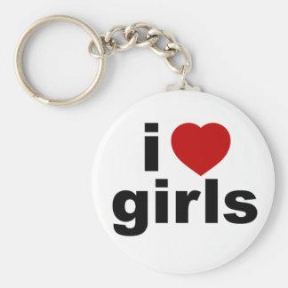 Porte-clés J'aime le porte - clé de filles