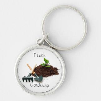 Porte-clés J'aime le porte - clé de jardinage