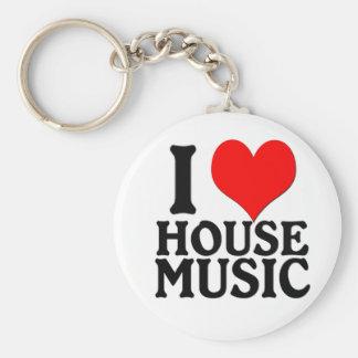 Porte-clés J'aime le porte - clé de musique de Chambre