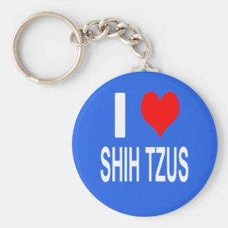Porte-clés J'aime le porte - clé de tzus de Shih