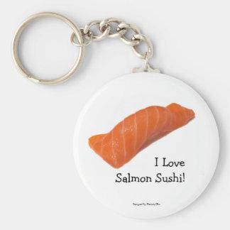 Porte-clés J'aime le porte - clé saumoné de sushi