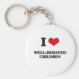 Porte-clés J'aime les enfants polis