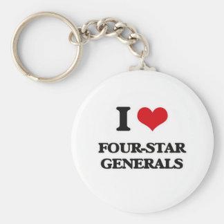 Porte-clés J'aime les généraux à quatre étoiles