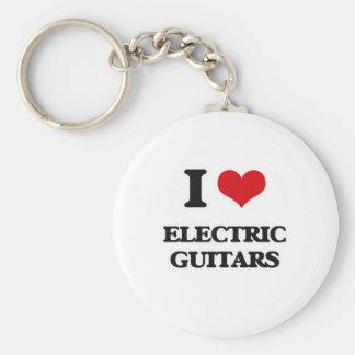 Porte-clés J'aime les guitares électriques