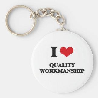 Porte-clés J'aime l'exécution de qualité