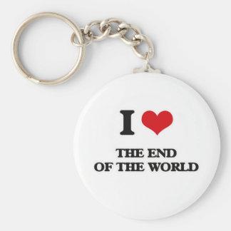 Porte-clés J'aime l'extrémité du monde