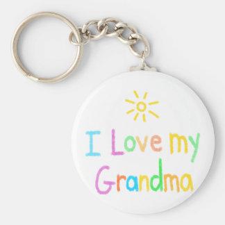 Porte-clés J'aime ma grand-maman