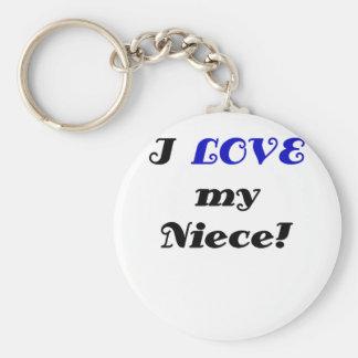 Porte-clés J'aime ma nièce