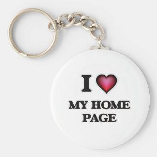 Porte-clés J'aime ma page d'accueil