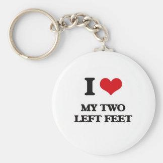 Porte-clés J'aime mes deux pieds gauches