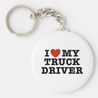 Porte-clés J'aime mon chauffeur de camion