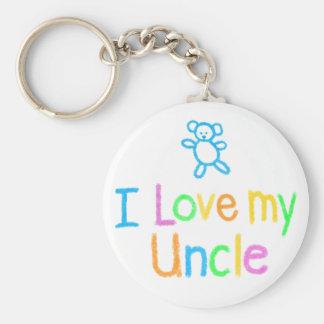 Porte-clés J'aime mon oncle