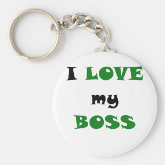 Porte-clés J'aime mon patron